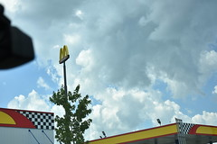 McDonalds Arches Bowling Green Ky (King Kong 911) Tags: building corvette museum rock sinkhole