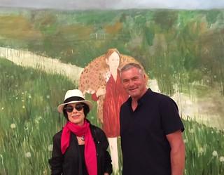 Artists Erika King and Florian Depenthal at the Jorge Perez collection of Cuban art VIP opening at PAMM