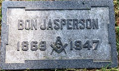 Jasperson, Bon 1869 - 1947 (Hear and Their) Tags: fraternal grave stones markers oddfellows masonic mason freemason kingsville ontario greenhill cemetery