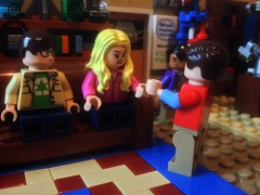 That's my spot. You're in my spot! (captaincustom/collector) Tags: ego big bang theory sheldon amy minifig minifigure the