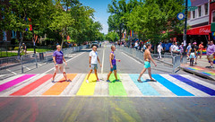 2017.06.10 Painting of #DCRainbowCrosswalks Washington, DC USA 6471