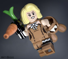 Portrait:  March Harriet (WattyBricks) Tags: lego batman movie march harriet pratt carrot gun rabbit bunny ears dc comics superheroes gotham rogues gallery