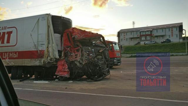 Натрассе М-5 «Урал» под Сызранью столкнулись три фургона