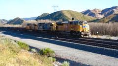 UP at Cajon Station (flannrail) Tags: unionpacific bnsf csx train cajonpass cajon california mountain