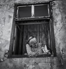 Romania Series #9  Candid Street - Sibiu Romania (Mircea D. Tagui) Tags: streetphotography shootingstrangers streetportrait candidstreetphotography sibiuromania românia româniastreetphotography candidmoment monochrome blackandwhite fujinonxf23mmf14 fujifilmxt2 oldwoman cat
