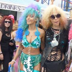 Coney Island Mermaids (Slip Mahoney) Tags: mermaids mask mermaidparade mermaidparadeconeyislandbrooklyn bikini babe parade brooklyn coneyisland coneyislandmermaidparade pasties boobs