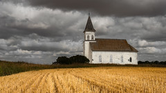 Gothic (Flint Roads) Tags: nd northdakota usa abandoned church clouds decay deteriorated faded field forsaken old rural
