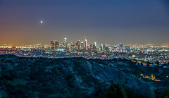 City of Angels (Andy.Gocher) Tags: andygocher canon100d sigma18250 night usa california la losangeles city cityscape electricity moon skyline sunset lights