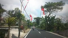 Kintamani - Ubud (scinta1) Tags: baturbaguscottages indonesia bali kintamani kedisan kampung desa village mountbatur gunungbatur lakebatur danaubatur road jalan street motorbike trees flag