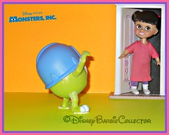 Returning to the Monster World (DisneyBarbieCollector) Tags: disney pixar monsters inc boo mike wazowski dolls toys figurines collectibles