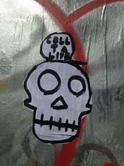 (emilyD98) Tags: collage wall mur insolite sticker parc skate stnazaire art streetart mort de tête street urban exploration city ville