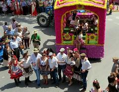Día de San Isidro. Romería en Alameda (Málaga) (lameato feliz) Tags: carroza alameda fiesta color calle desfile gente