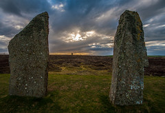 The Ring Of Brodgar, Orkney (splib1) Tags: scotland orkney blue green grey neolithic brodgar ringofbrodgar stone stonecircle henge stonering 2500bc 2000bc sunset eirie pagan standingstone nessofbrodgar splib1