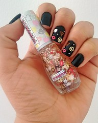 Rock - Colorama + PinkMoji - Mohda (Thayná_Moraes) Tags: colorama mohda preto emoji nailpolish