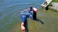 underground (marcostetter) Tags: wet wetclothing wetclothes wetlook wetjeans wetshirt lake barefoot