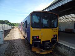 150108 Falmouth Docks (1) (Marky7890) Tags: gwr 150108 class150 sprinter 2t7 falmouthdocks railway cornwall maritimeline train
