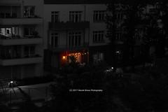 147/365 - Summer lights... (Sinuhé Bravo Photography) Tags: canon eos7d selectivecolor balcony summer coloredlights nightshot building urban