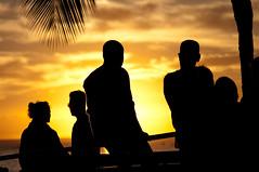 (Zebulon Dave) Tags: hawaii honolulu oahu waikikibeach sunset yellow black beach usa unitedstates img3294rlexported