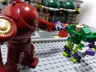 Iron Man (hulk buster) VS Lex Luthor