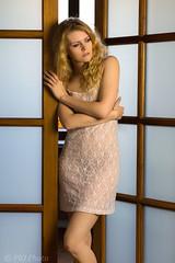 Bathroom entrance (piotr_szymanek) Tags: kaciaryna kasia young girl blonde longhair slimbody workshop ojrzanów longlegs legs portrait woman skinny fashion dress 5k 1k 20f 10k frock studio milf