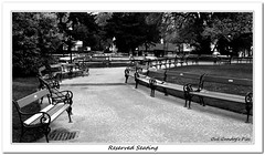 Reserved Seating (Oul Gundog) Tags: park bench seats reserved rathaus vienna austria