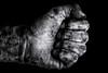 Solidarity (*Chris van Dolleweerd*) Tags: solidarity hand dirty bw chrisvandolleweerd studio strobist fist man vuist