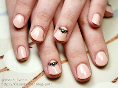 ylioppilaskynnet (-Yue) Tags: approved essence nails nail polish rhinestones microbeads nude