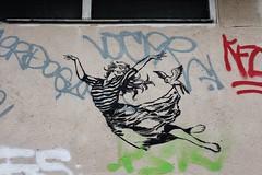 Faile_6370 passage Saint Sébastien Paris 11 (meuh1246) Tags: streetart paris faile passagesaintsébastien paris11 animaux oiseau