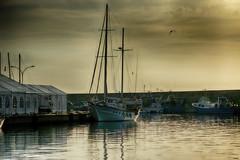 Velero atracado (candi...) Tags: velero puerto ametllademar mar barco cielo agua atraque sonya77