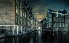 Amsterdam Canal (mcalma68) Tags: amsterdam canals cityscape nightphotography sunset architecture skyline sint olofsteeg iso 200 16mm 30secs sonyalpha7ii 1635mm f14
