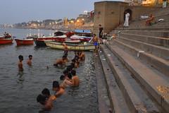 Varanasi, bathing and swimming in the Ganges (9) (walterkolkma) Tags: varanasi india ganges ganga swimming bathing streetphotography hinduism nikond5500