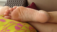 DSC06950red2 (thermosome) Tags: foot feet mature soles wrinkled milf