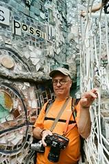 Baltimore Portrait (Georgie_grrl) Tags: michael friend possible mosaics artwork magicgardens philadelphia roadtrip pentaxk1000 rikenon12828mm