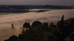 A river of fog (derliebewolf) Tags: timelapse astrophotography astrotimelapse fullmoon moon moonlight fog foggy hiking clouds movingclouds movingwaves travel video 50mm
