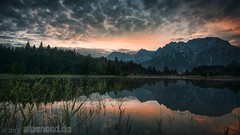 Luttensee Dawn (alpenbild.de) Tags: d800 d800e nikond800e nikon alpen alpenbildde alpin alpine alps bavaria bayern berg berge cloud clouds forest fullframe fx lake landscape landschaft mittenwald morgen morgens morning mountain mountains natur nature reed reeds reflection reflexion schilf see sommer sonnenaufgang spiegelung summer sunrise topaz vollformat wald wasser water wolke wolken wood woods 云 全画幅数码单反相机 大自然 尼康 山 山区 巴伐利亚 日出 景观 森林 湖 阿尔卑斯山 雾 deutschland