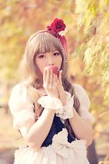 SDF_0710 (SendoFu) Tags: bonnet ボンネット エプロン風スカート blouse bl ブラウス headbow kc カチューシャ bnt 蕾絲 維多利亞 jsk op onepiecedress ワンピース jumperskirt ジャンパースカート nop lolita lolitafashion 蘿莉塔 蘿莉塔時裝 ロリータ・ファッション sweetlolita classicallolita