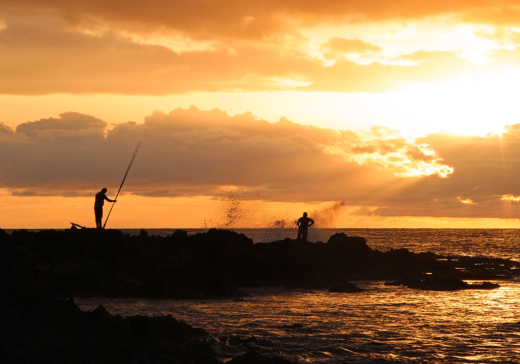 The world 39 s best photos of fishing and hawaii flickr for Shore fishing oahu