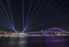 Sydney Beams (satochappy) Tags: sydneyharbourbridge vividsydney beams sydneyharbour sydney