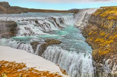 Gullfoss (Herculeus.) Tags: 2017 april bouldersstonerocks canyon country day europe gullfossiceland hydroelectricpower ice iceland landscape landscapes mist outdoor outdoors outside snow spring water waterfalls waterfall marculescueugendreamsoflightportal