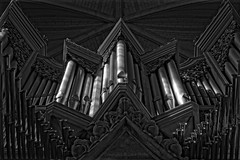 Monochrome Organ Pipes (Dave Sexton) Tags: lancing west sussex united kingdom england college chapel walker pipe organ dxo on1 affinity photo pentax k1 100mm f28