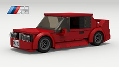 BMW M3 (E30) (revised) (Tom.Netherton1) Tags: bmw european europe german germany classic vintage i6 speed speedster 1980s 1990s auto coupe car cars lego legos ldd digital designer download dropbox pov povray city lxf