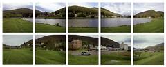 Galeton, PA 360 degree pano (babireley) Tags: galetonpa pottercountypa pawilds minoltaautocord fujichromevelvia100 spring bergerlake decaptych pano rolleipanoramahead