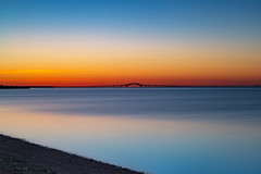Great South Bay (Bob90901) Tags: longisland newyork sunrise longexposure rpg90901 goldenhour civiltwilight greatsouthbay causeway venetialshores robertmosescauseway spring canon 6d canonef2470mmf28liiusm filter lee bigstopper neutraldensity nd10 graduatedneutraldensity 09gradnd bay bridge 2016 april 0556 nd gradnd shore vle