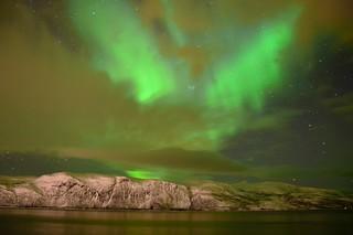 Magical green Aurora borealis | Norway
