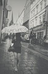 Moody rainy day (erlingraahede) Tags: missing vsco blackandwhite street moody lübeck germany