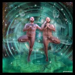 luna nueva géminis (GhianDrake) Tags: géminis gemini nude naked desnudo desnudos nudismo naturismo nudism naturism yoga gymnosyoga