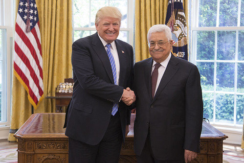 Palestinian Authority President Abbas with Trump, From FlickrPhotos