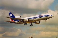 TriStar C-FTNC London Gatwick 1986 (jonf45 - 5 million views -Thank you) Tags: tristar lockheed l1011 airliner civil aircraft jet plane aviation flight london gatwick airport air transat 3851 cftnc