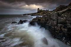 Dunure Storms (chrismarr82) Tags: dunure castle strom sea nikon lee manfrotto sky waves clouds dark