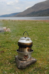 Hobo stove (What I saw...) Tags: highlands scotland loch arkaig kelly kettle hobo stove